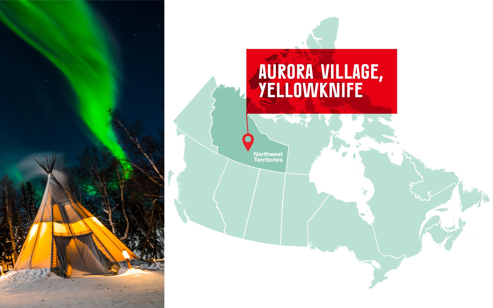 Aurora Village in Yellowknife, Northwest Territories
