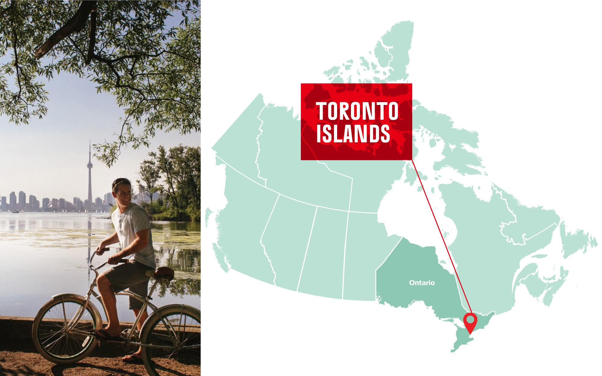 Biking along the Toronto Islands