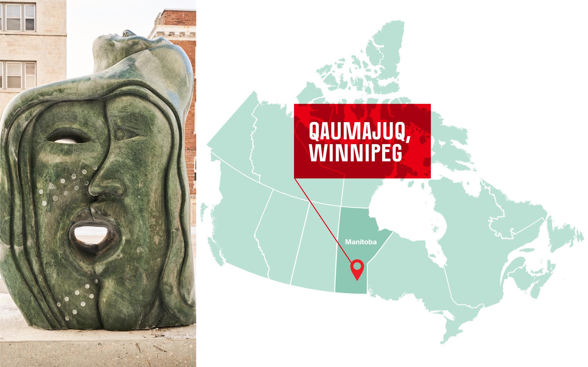 Source : Goota Ashoona. Photo du dévoilement offerte par le Musée des beaux-arts de Winnipeg (Qaumajuq).
