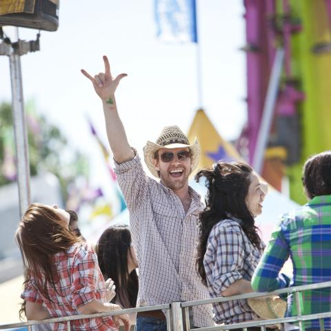 Enjoying the Midway at the Calgary Stampede