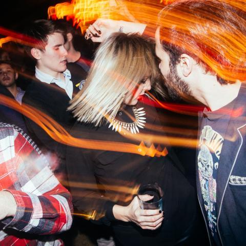 Crowd enjoys music at The Drake Underground