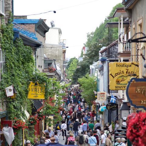 Quebec City's Petit Champlain District