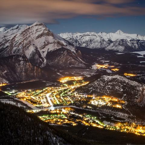 Overlooking Banff - credit: Paul Zizka