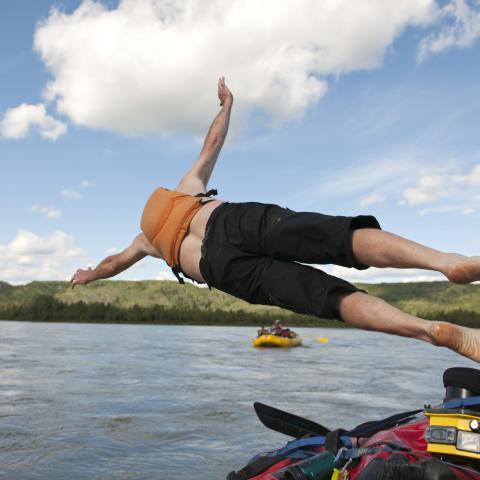 Swimming in the Northwest Territories