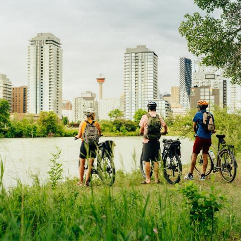 people with bikes in calgary