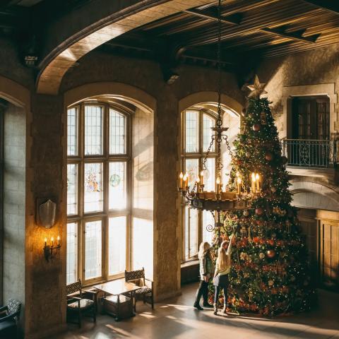Zauberhafte Stimmung auf dem Schloss im Fairmont Banff Springs Hotel