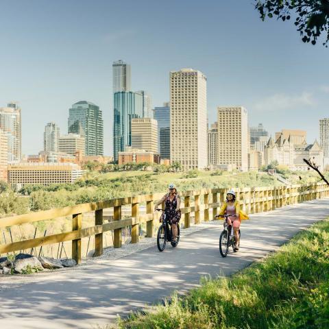 biking in edmonton
