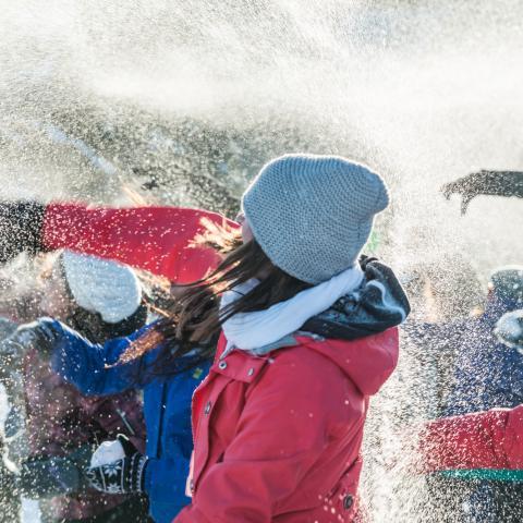 Edmonton snowball fight