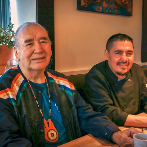 Feast Winnipegs Chef Calvin Spencer and Elder Calvin Pompana