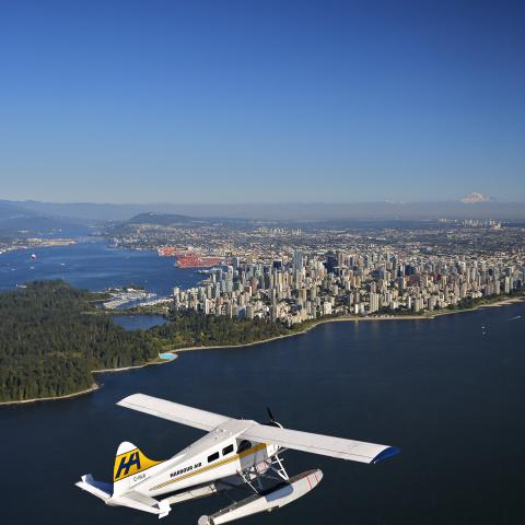 Vancouver seen from a Harbour Air flight