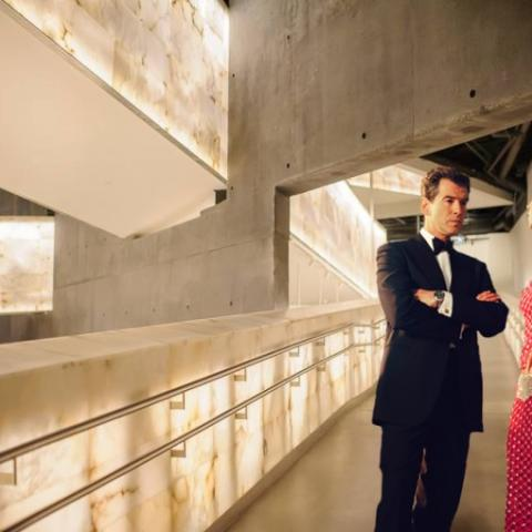 James Bond in the Canadian Museum for Human Rights