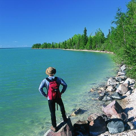 Hiking in Manitoba