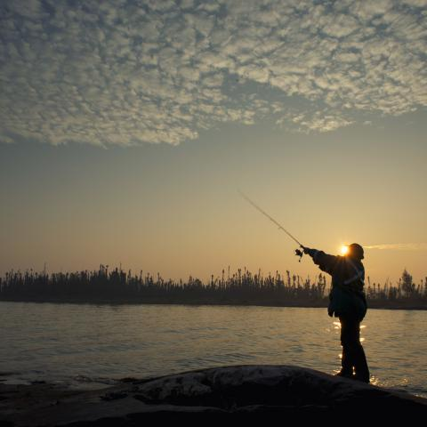 Pescar en los Territorios del Noroeste