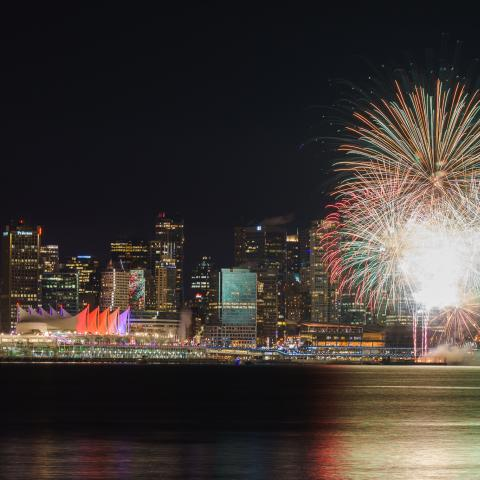 Vancouver fireworks New Years Eve
