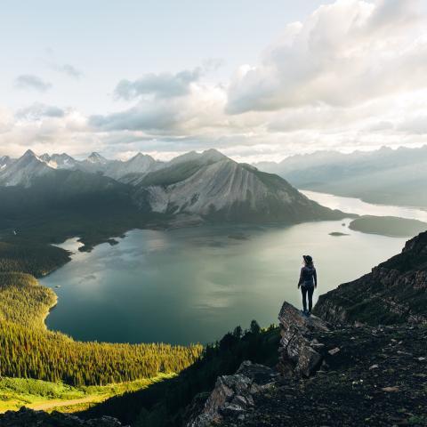 Three Isle Lake Kananaskis Country Alberta