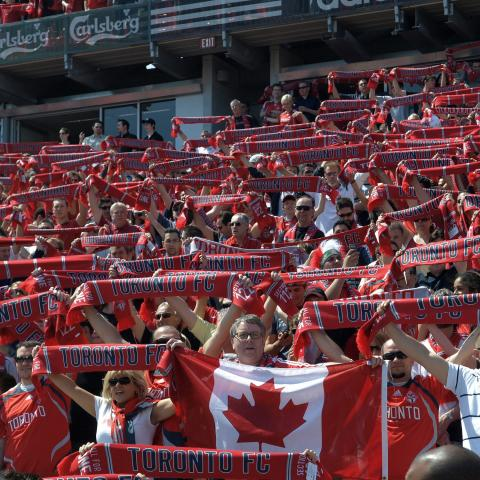 Toronto FC Major League Soccer game fans