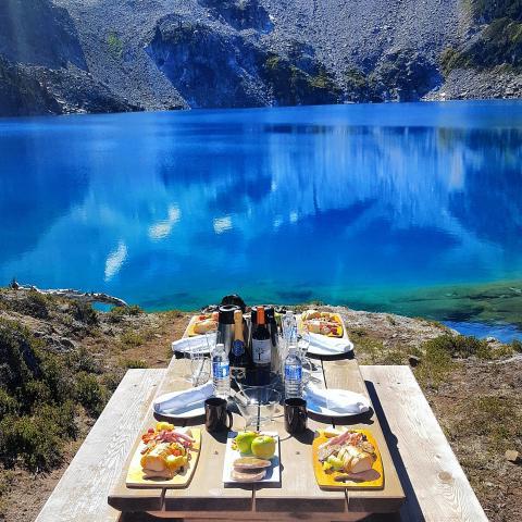 Whistler heli-picnic