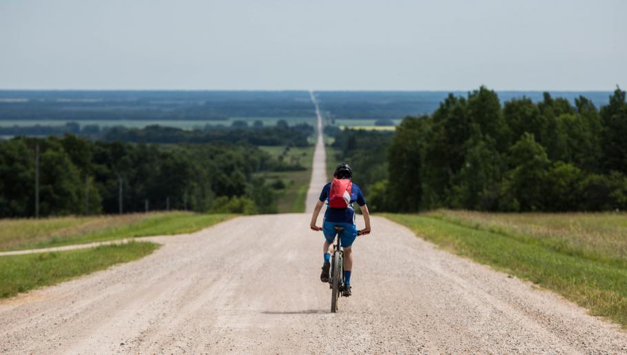 Leander Angerer in Riding Mountain National Park
